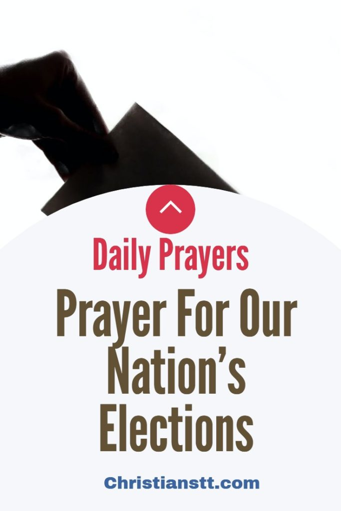 Prayer For Our Nation's Elections