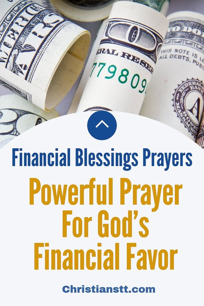 Powerful Prayer For God's Financial Favor