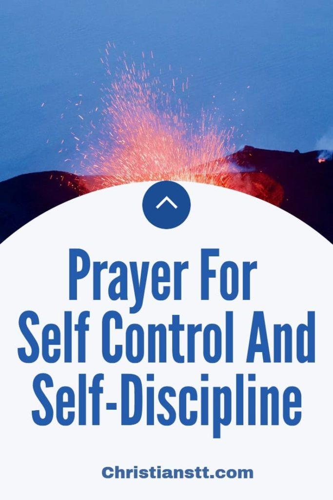 Prayer For Self Control And Self-Discipline