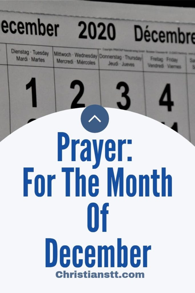 Prayer for the month of December