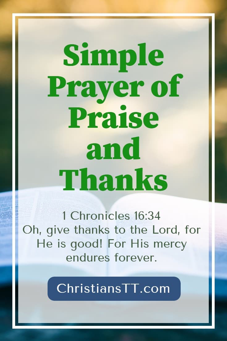 Simple Prayer of Praise and Thanks
