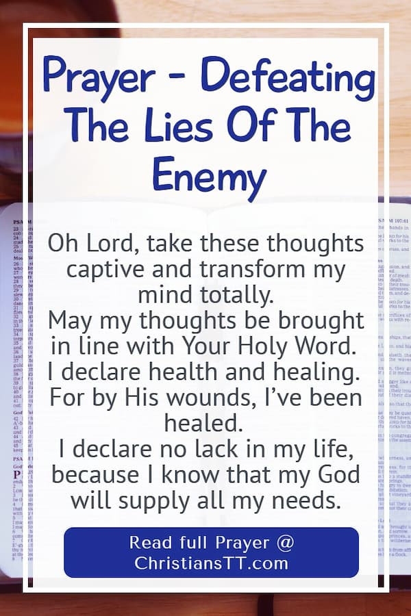 Prayer - Defeating The Lies Of The Enemy