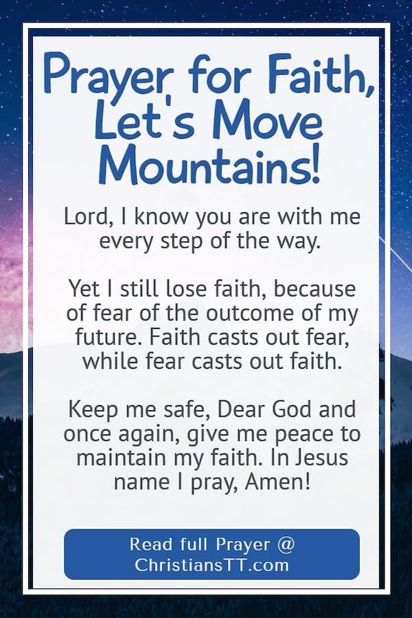 Prayer for Faith, Let's Move Mountains!