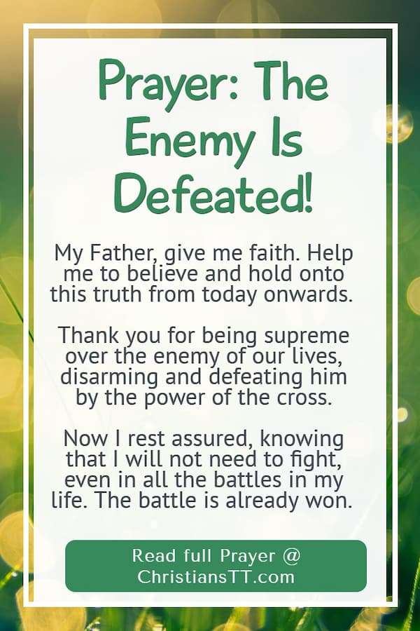 Prayer: The Enemy Is Defeated!
