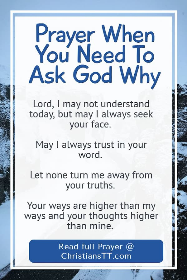 Prayer When You Need To Ask God Why