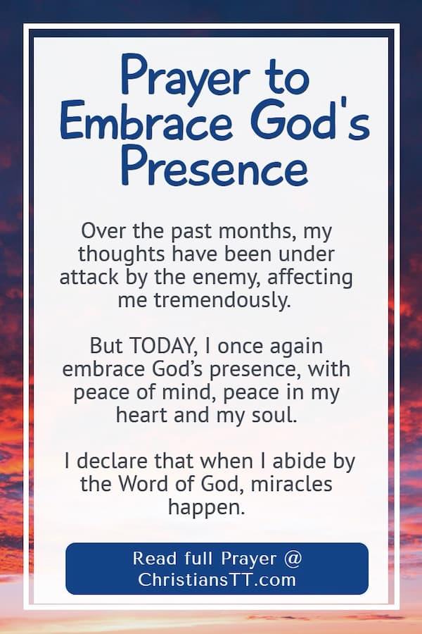 Prayer to Embrace God's Presence