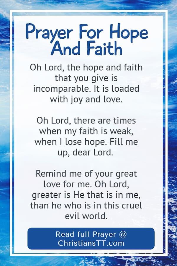 Prayer for Hope and Faith