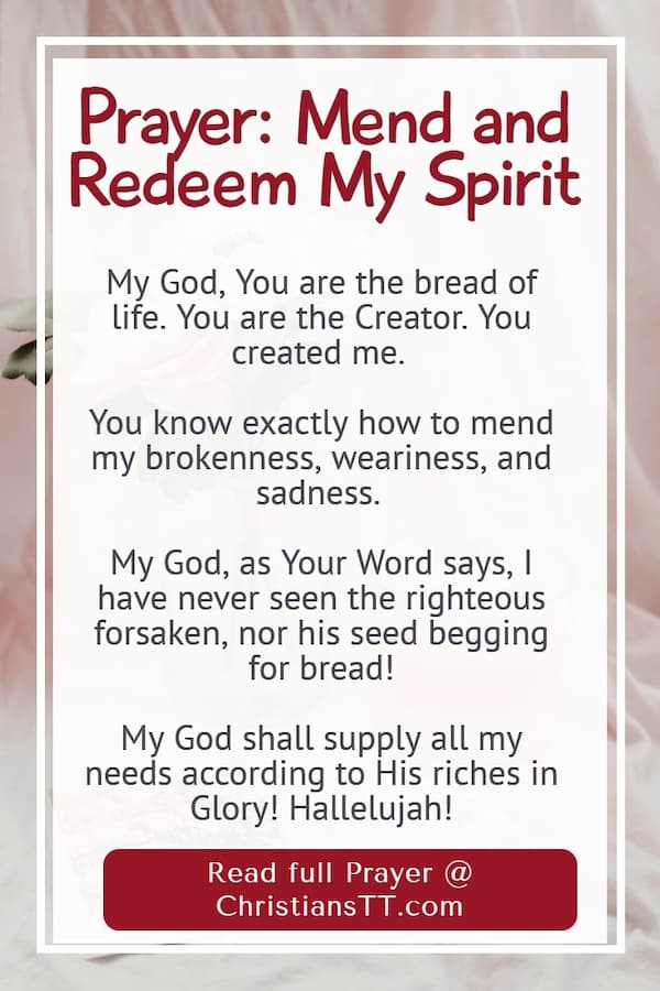 Prayer: Mend and Redeem Our Spirits